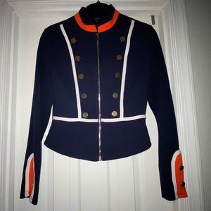 Privy Band style blazer - Navy Blue/Wht/Orange